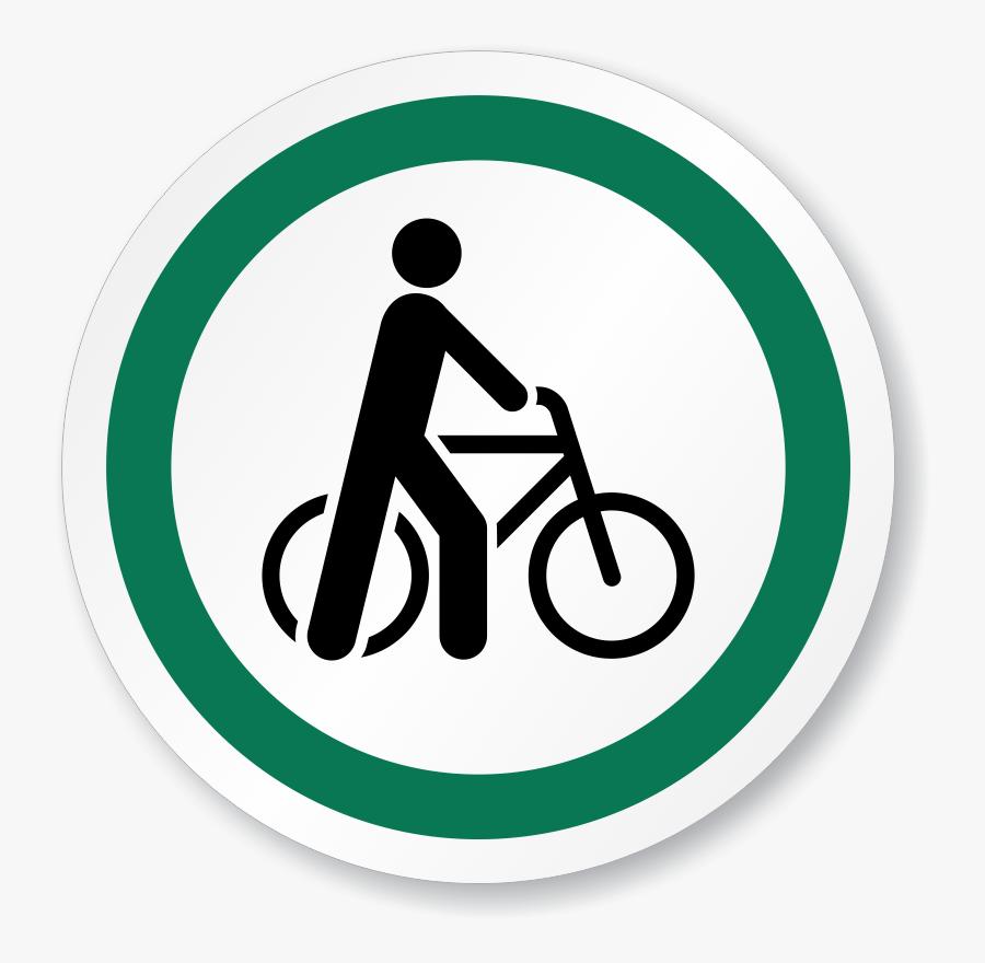 Bicycle Symbol Iso Circle Sign.