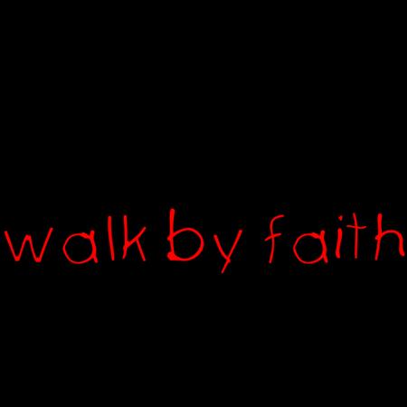 Walking By Faith Clipart.