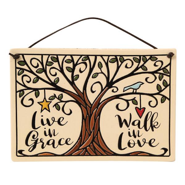 Live in Grace, Walk in Love Plaque.