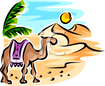 1840 Camel free clipart.