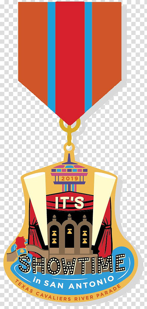 Texas Cavaliers Fiesta San Antonio Flower parade Medal.