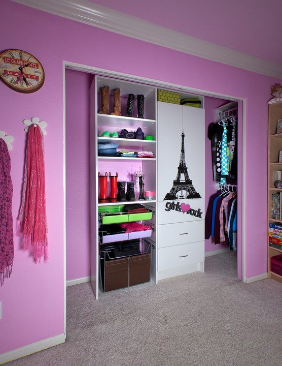 How to turn the standard closet into a tween's dressing room.