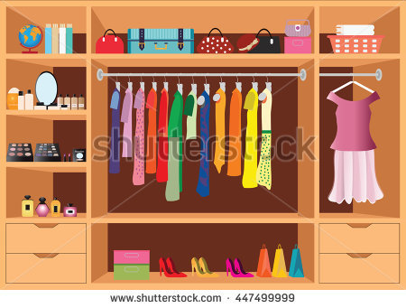 Wardrobe Clothes Stock Images, Royalty.