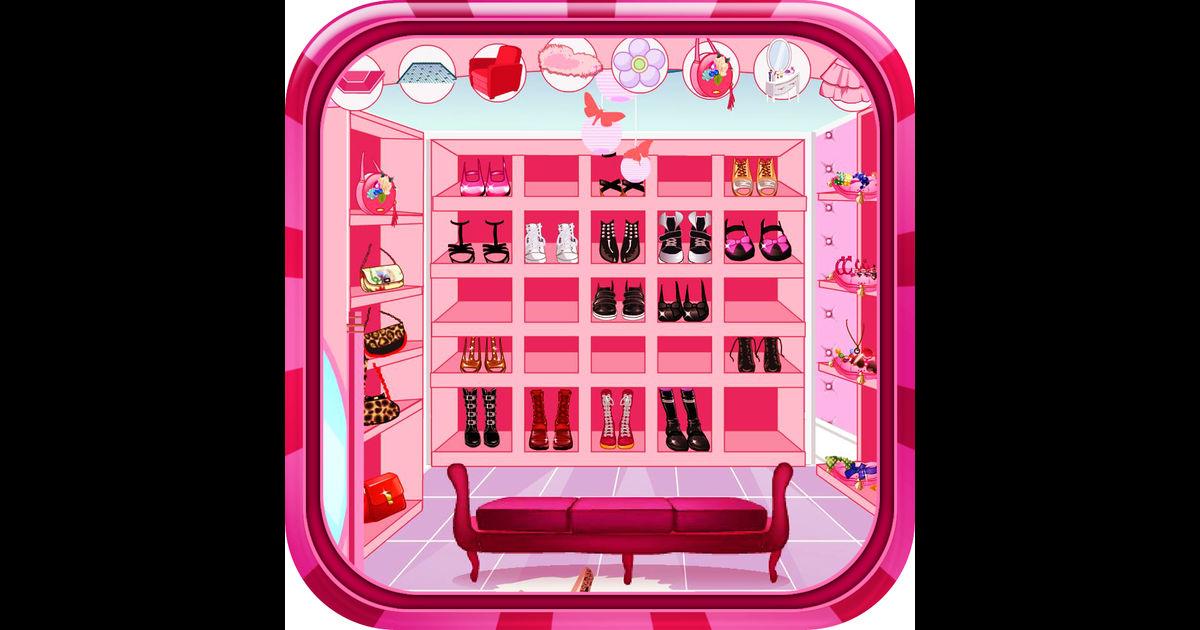 Clipart princess wardrobe open and close.