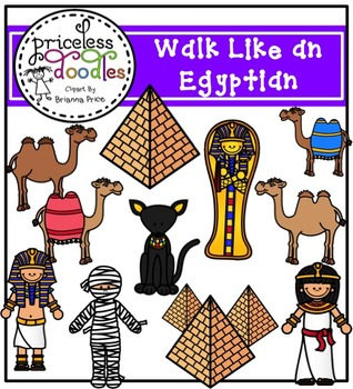 Walk Like an Egyptian (The Price of Teaching Clipart Set).