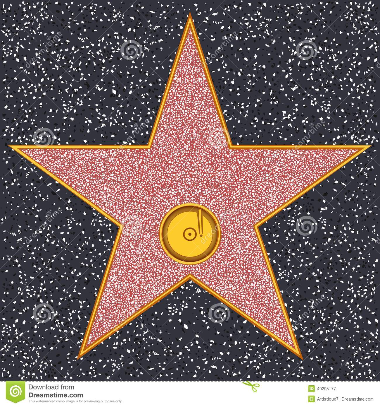 Hollywood Walk Of Fame Star Clipart.
