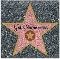 Walk of fame clipart.