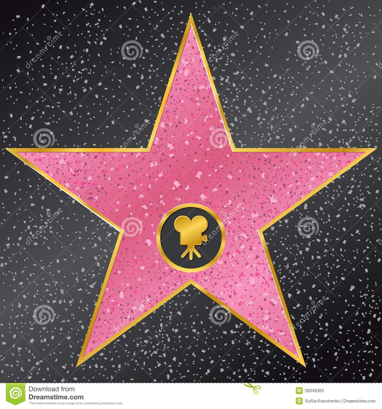 Hollywood walk of fame clipart.