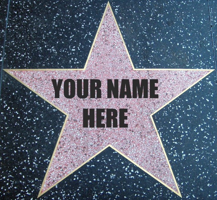 This is a picture of Satisfactory Hollywood Star Template Printable