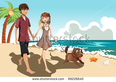 Walk Beach Stock Vectors & Vector Clip Art.
