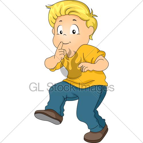 Little Kid Boy Silently Walking · GL Stock Images.