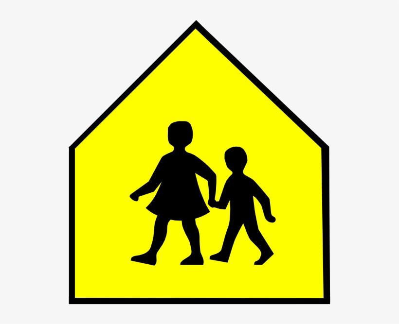 Download School Crossing Sign Vector Clipart School.