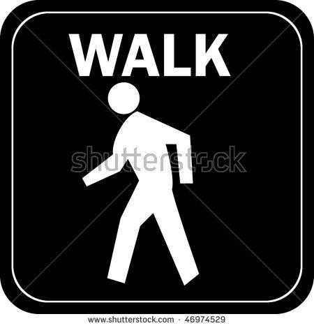 2961 Walk free clipart.