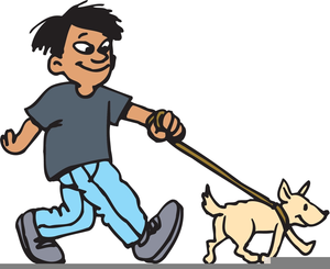 Dog Walk Clipart.