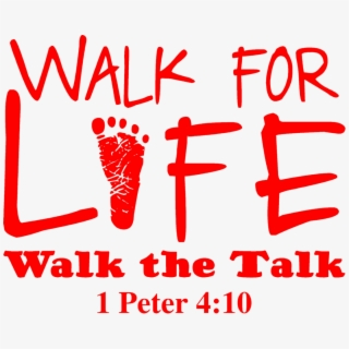 Walk For Life Walk The Talk , Transparent Cartoon, Free.