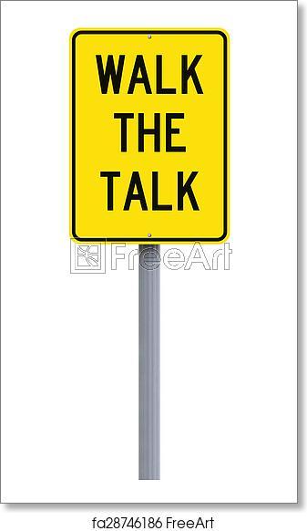 Free art print of Walk the Talk.