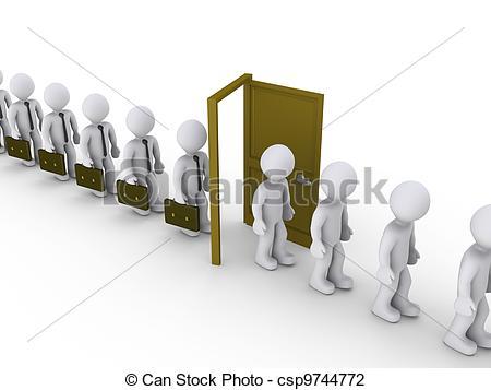 Walking Through A Door Clipart.