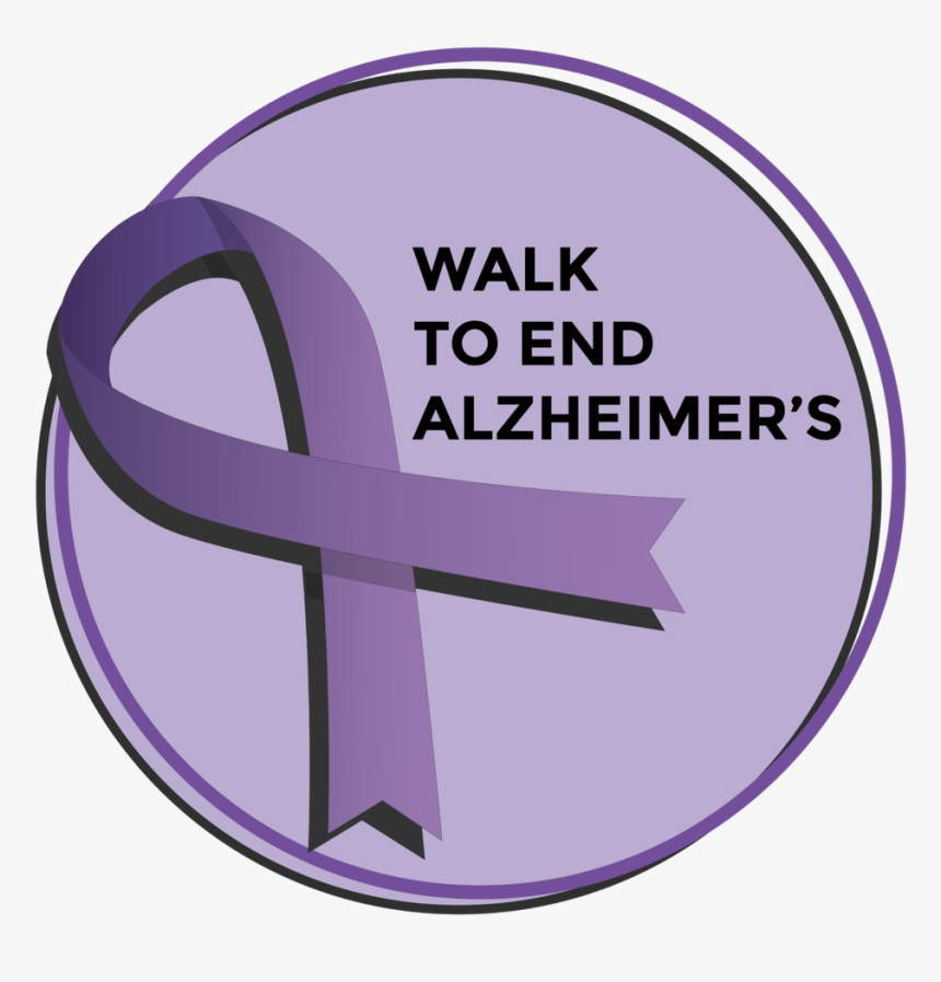 Walk To End Alzheimer\'s Ribbon, HD Png Download.