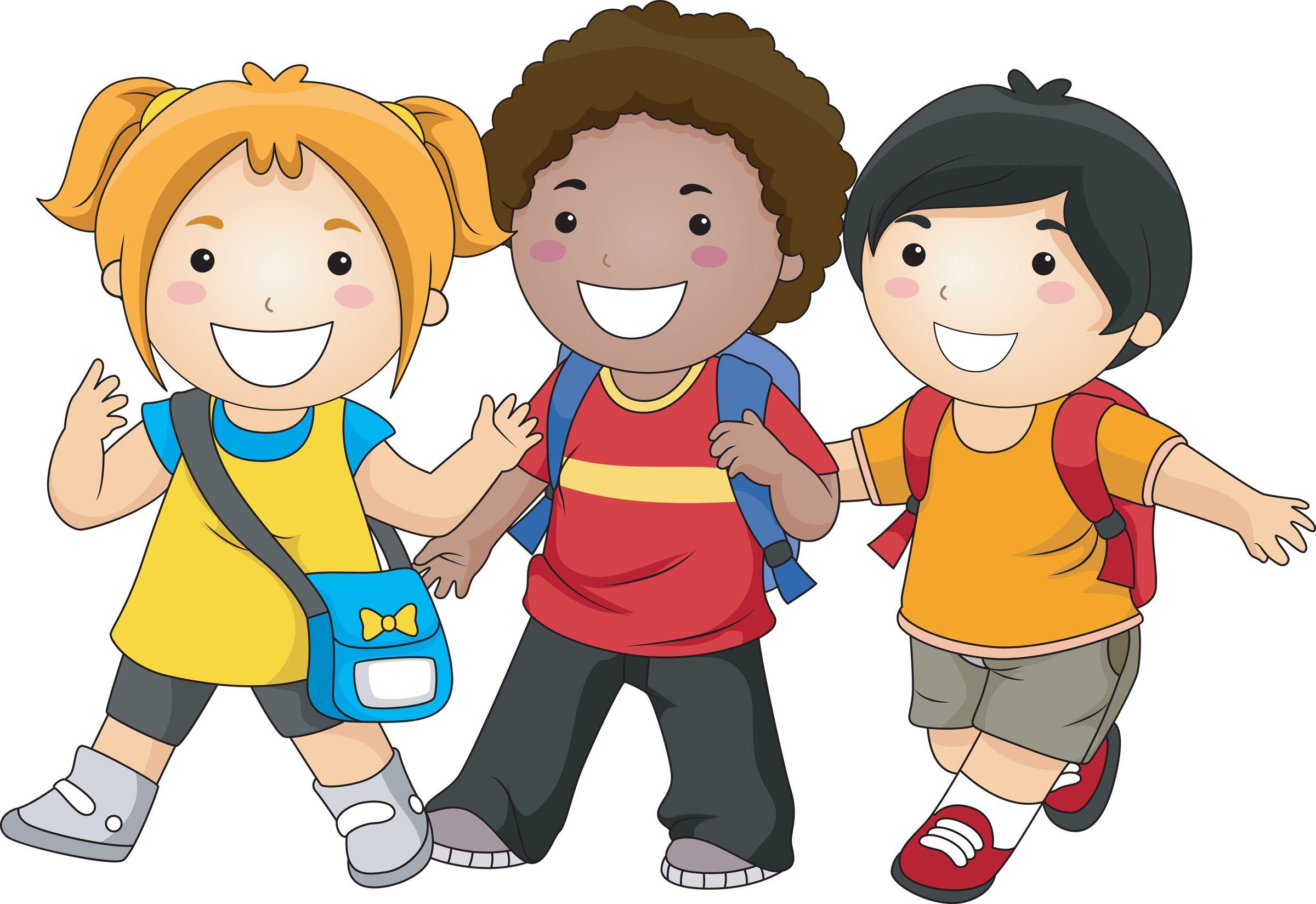 kids walking.