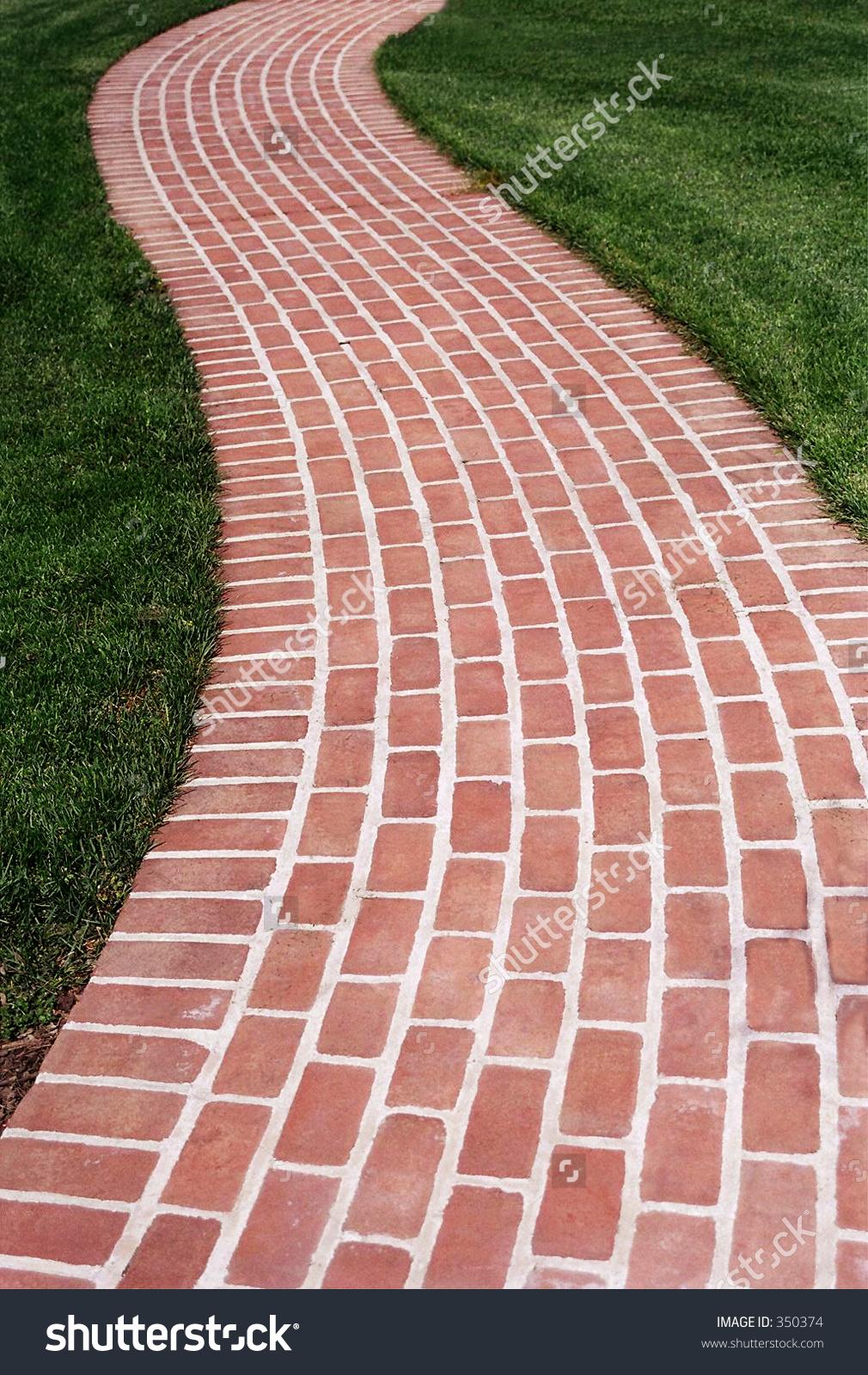 Brick Walk Way Stock Photo 350374 : Shutterstock.