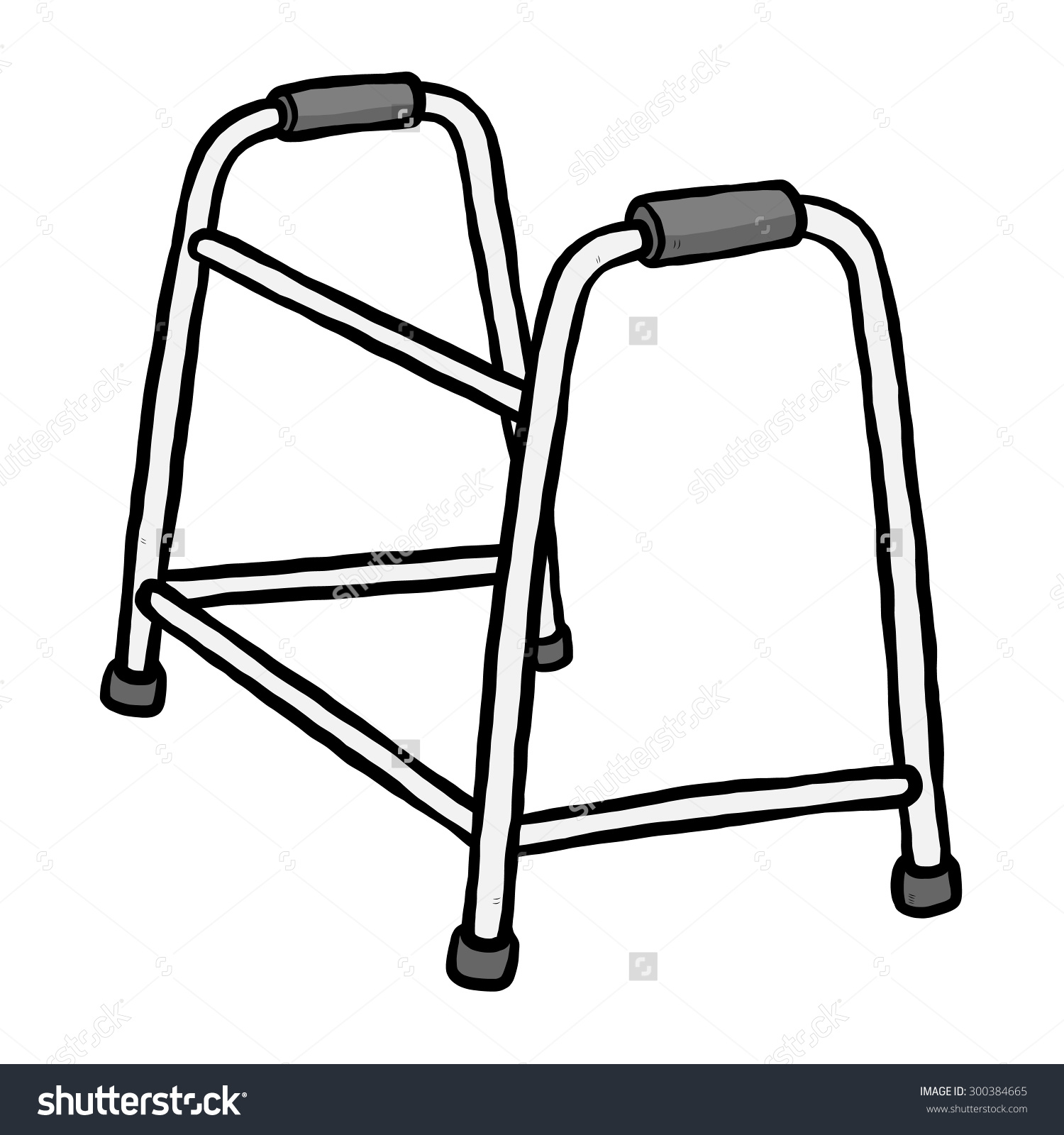 Medical Walker Clip Art.