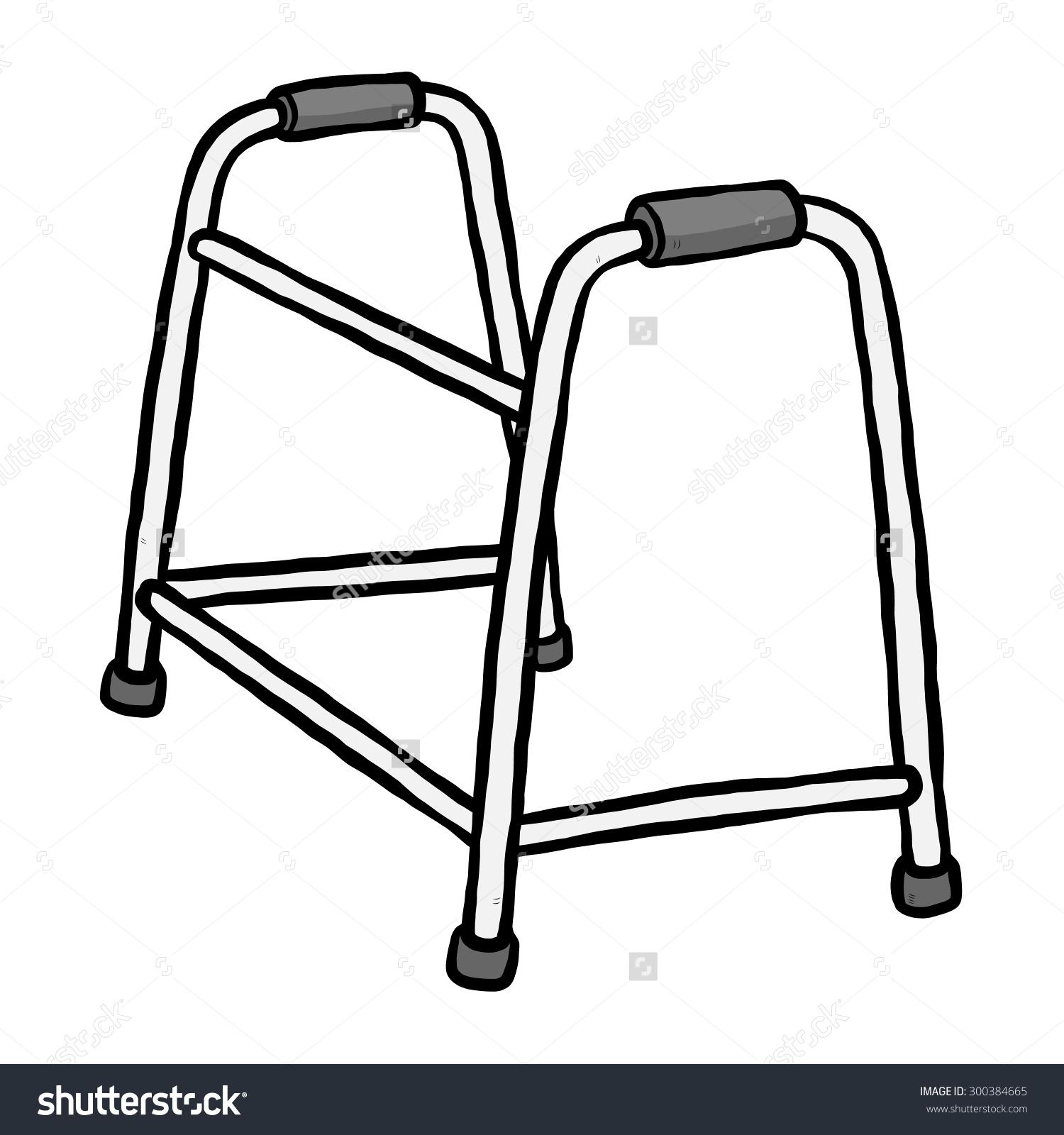 Medical Walker Clip Art.