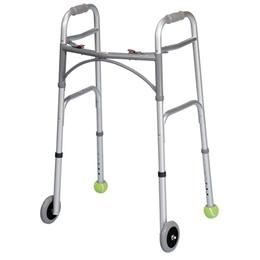 Tennis balls at the end of walkers legs is a very common DIY.