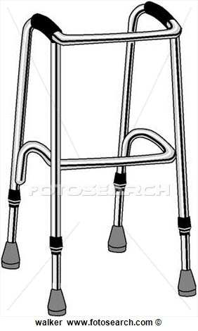 Medical walker clipart.