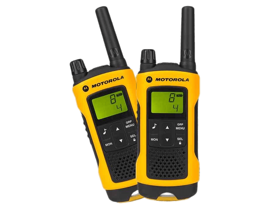 Yellow Motorola Walkie Talkies transparent PNG.