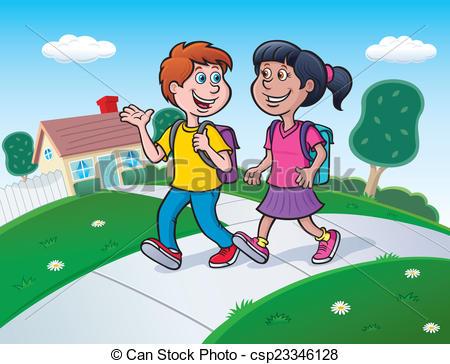 Showing post & media for Cartoon walking around school.