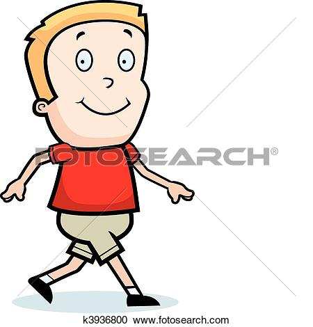 Clipart of Happy little boy and happy. k13893831.