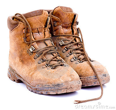 Walking boots clipart.
