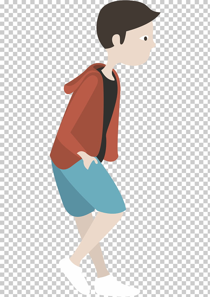 Mobile app , Walking boy PNG clipart.