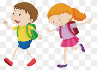 Free PNG Walk To School Clip Art Download.
