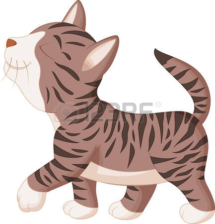 2,608 Walking Cat Stock Vector Illustration And Royalty Free.