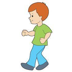 free clip art child walking.