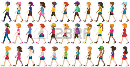 6,329 Walking Group Stock Illustrations, Cliparts And Royalty Free.