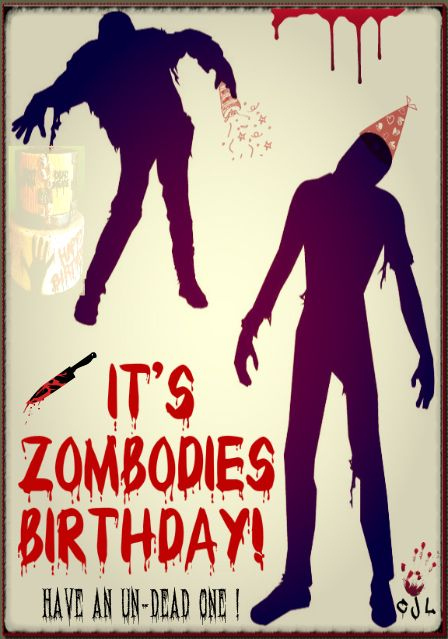 Its Zombodies Birthday have an undeadone 5x7 by cjlutje.