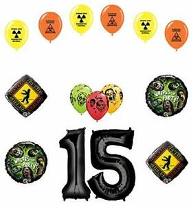Details about Mayflower Products Zombies 15th Birthday Party Supplies  Walking Dead Balloon.
