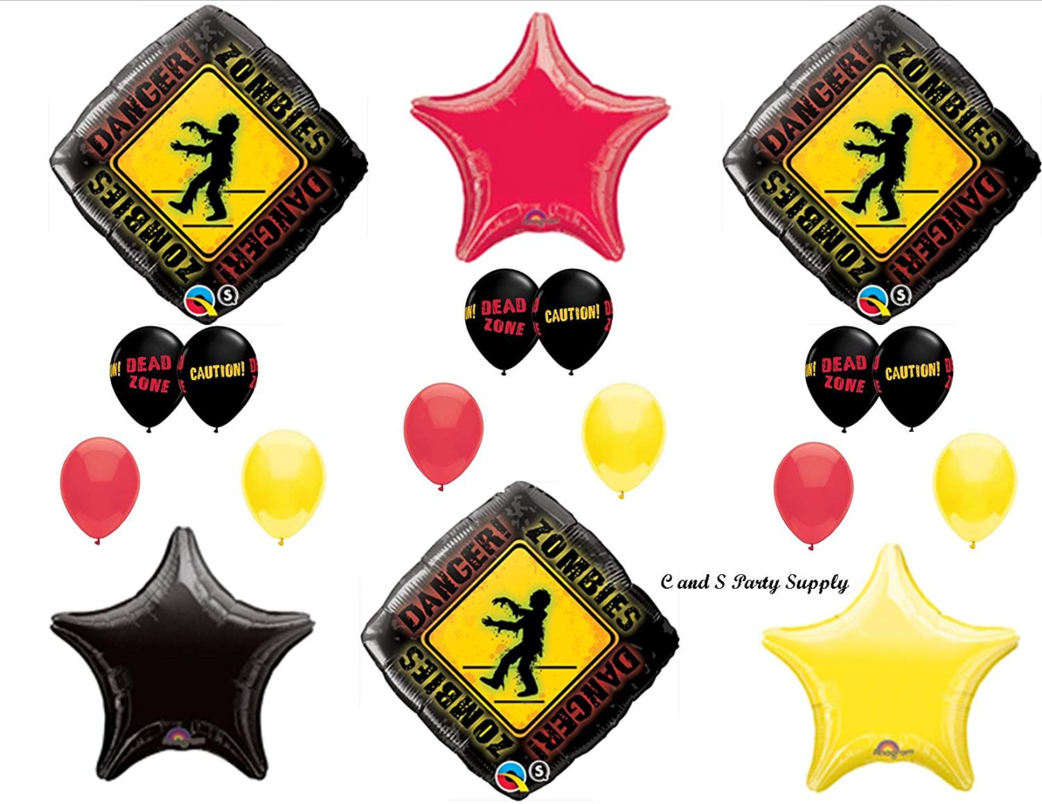 1 X Zombies The Walking Dead Zone Birthday Party Balloons Decorations  Supplies NEW!.
