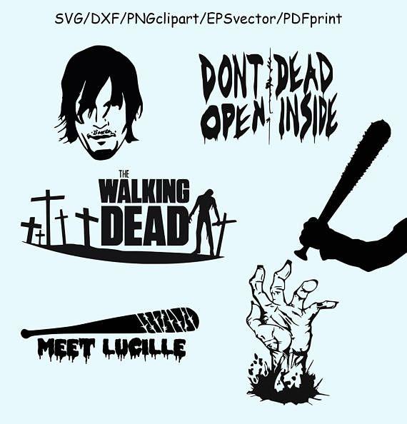Walking Dead SVG DXF Clipart Vector Walking Dead Logo Lucille.