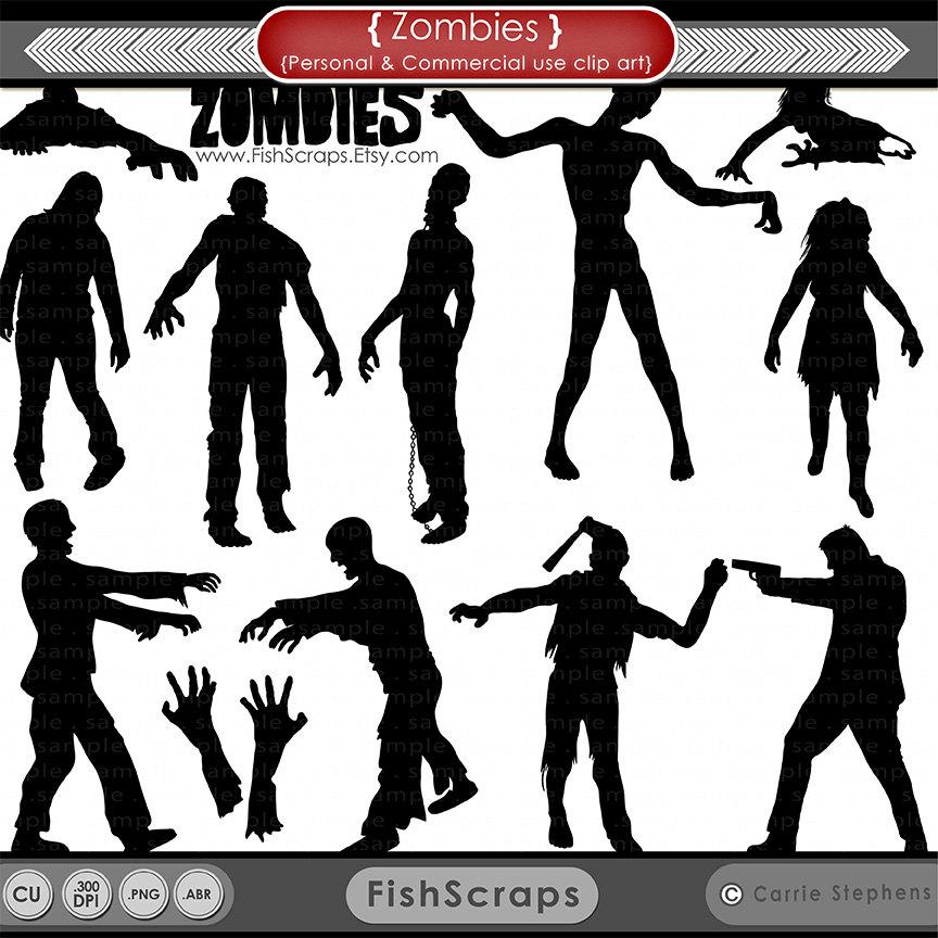 Clip Art Walking Dead Zombies Clipart.