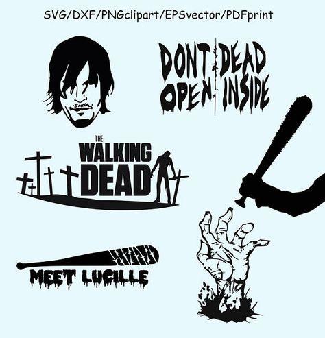 Walking Dead SVG DXF Clipart Vector Walking Dead Logo.