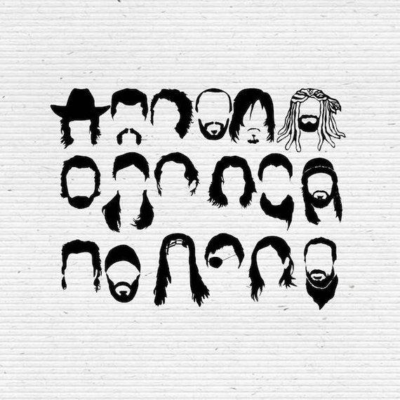 The Walking Dead Faces SVG Cut File, Digital Clipart.
