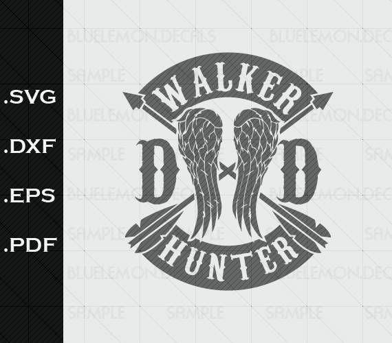 The Walking Dead, SVG, walker hunter,TwD, Daryl Dixon.