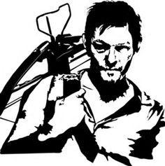 Walking Dead Daryl Silhouette.