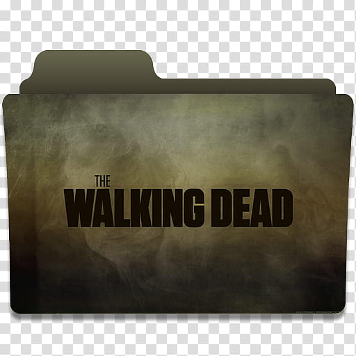 The Walking Dead Folder Icon, TWD transparent background PNG.