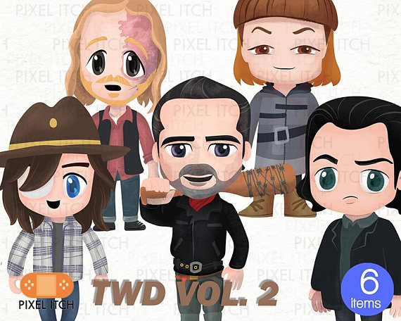 The Walking Dead Fan Clipart.