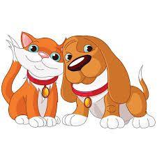 Image result for cartoon cat dog clip art.