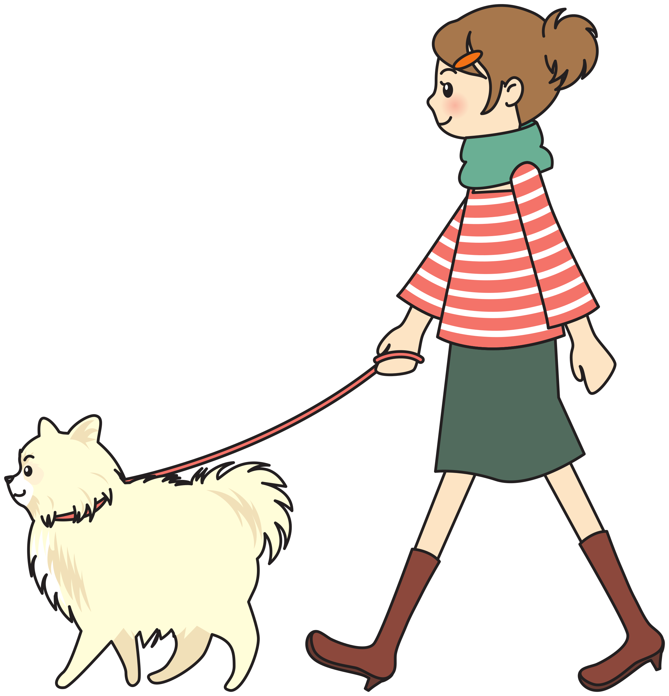 Walking Dogs Clipart.